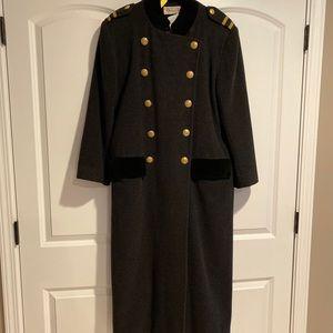 Vintage Christian Dior Military Wool coat Sz 8